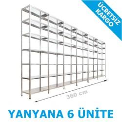 Vale Group - Çelik Arşiv Rafı 31x360x250 7 Katlı