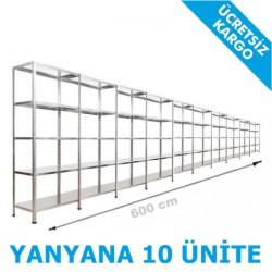 Vale Group - Çelik İstif Rafı 43x600x200 5 Katlı