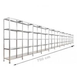 Vale Group - Çelik İstif Rafı 43x750x200 5 Katlı