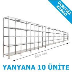 Vale Group - Çelik İstif Rafı 43x930x200 5 Katlı
