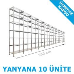 Vale Group - Çelik İstif Rafı 43x930x250 7 Katlı
