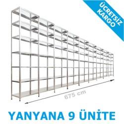 Vale Group - Çelik Raf Fiyatı 31x675x250 7 Katlı