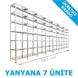 Vale Group - Çelik Raf Fiyatları 31x525x250 7 Katlı