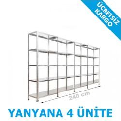 Çelik Raf Sistemi 31x240x200 5 Katlı - Thumbnail