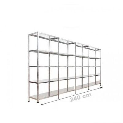 Çelik Raf Sistemi 31x240x200 5 Katlı