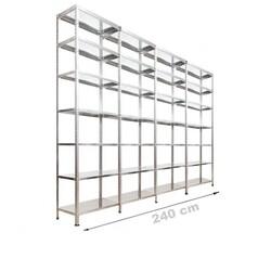 Vale Group - Çelik Raf Sistemi 43x240x250 7 Katlı