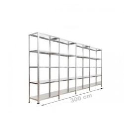 Vale Group - Çelik Raf Sistemi 43x300x200 5 Katlı