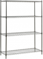 Inox 201 Paslanmaz - Paslanmaz Çelik Tel Raf 46x152x183 Cm