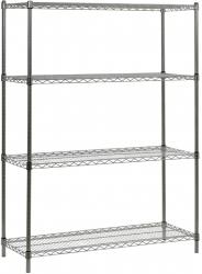 Inox 201 Paslanmaz - Paslanmaz Çelik Tel Raf 46x183x183 Cm